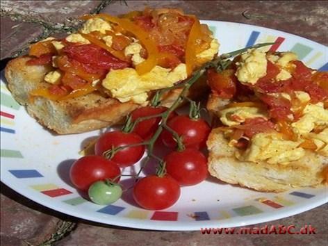 æggekage med bacon i ovn