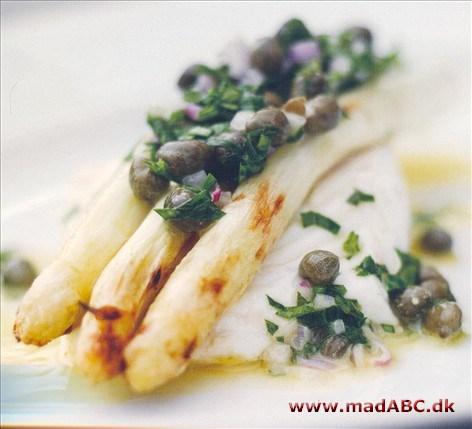 grillede hvide asparges