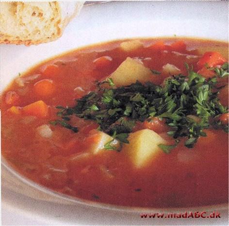 Italiensk Kartoffelsuppe Med Timian Og Hvidløg
