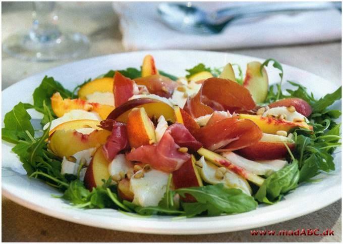 salat med skinke