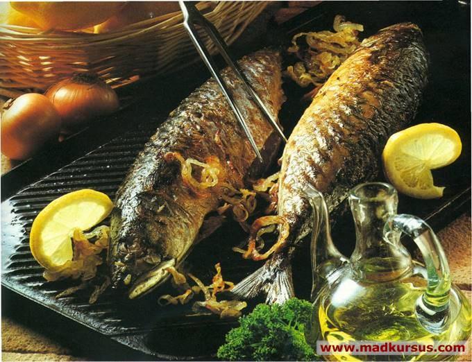 rygning af makrel på gasgrill