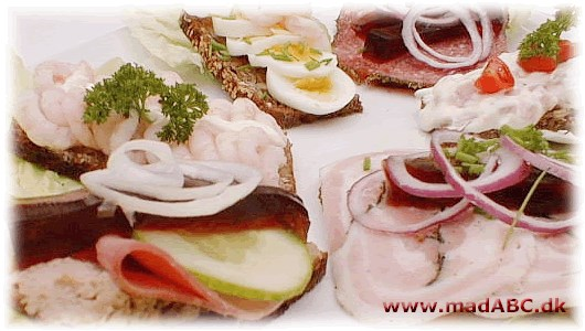 Danish open faced sandwiches and fast food