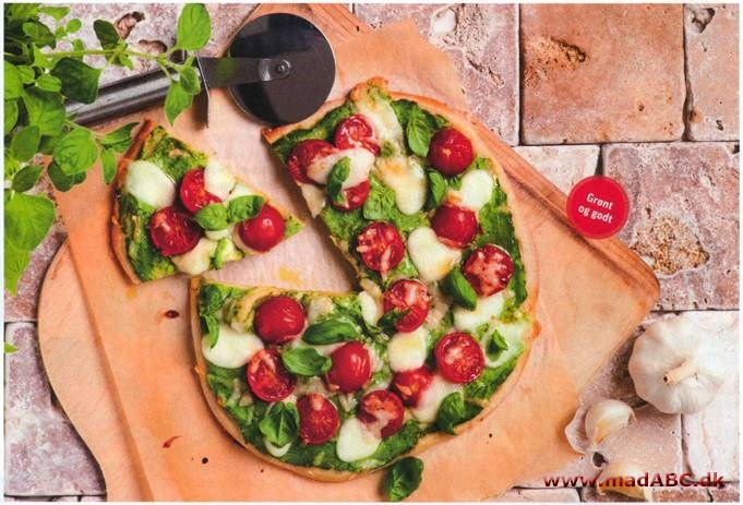 Pizza med broccolicreme